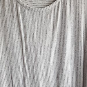 Two by Vince Camuto Tops - Boxy White Striped Basic Tee | Two x Vince Camuto